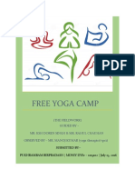 project on yoga camp