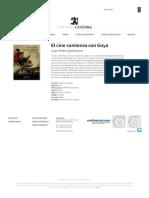 El cine comienza con Goya _ Juan Pedro Quiñonero _ Signo e imagen _ Ediciones Cátedra