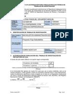 F-274 Autorización de Publicación Ejemplo.