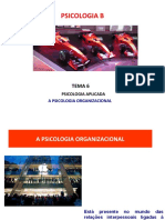 A PSICOLOGIA ORGANIZACIONAL -Conceitos Chaves