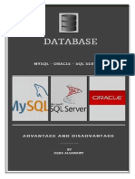 MysqlL and sql server and oracle