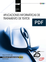Cuaderno del alumno aplicaciones informáticas de tratamiento de textos (Transversal UF0320)