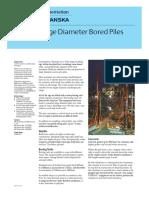 Cementation Skanska Data Sheet for Large Diameter Bored Piles (UK)