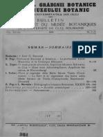 Buletinul Gradinii Botanice Cluj Napoca