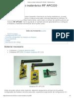 Arduino y módulo inalámbrico RF APC220 - TuElectronica.es
