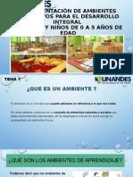 IMPLEMENTACIÓN DE AMBIENTES EDUCATIVOS PARA EL DESARROLLO INTEGRAL