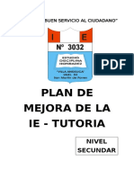 MODELO DE PLAN DE MEJORA SECUNDARIA- TUTORIA
