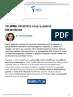 CE SPUN STUDIILE despre postul intermitent – Raportul de gardă.pdf