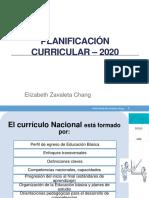 Planificación curricular y situación significativa 2020