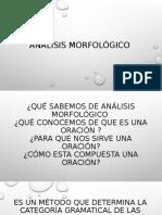 Análisis morfologico