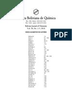 Vol 36 N° 1-5, Indice de autores