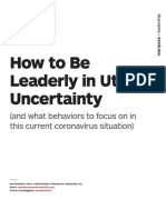 How to Be Leaderly in Utter Uncertainty 2020