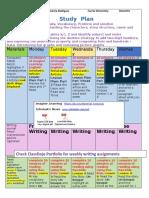 study plan march 30-april 3