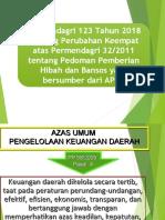 Permendagri 123 2018 Hibah Bansos