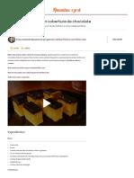 Bolo de Cenoura com cobertura de chocolate - Rita Lobo