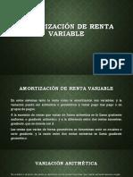 Amortización de Renta Variable