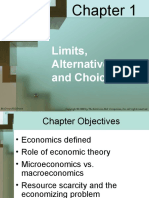 Chapter 1 Limit, Alternatives and Choices