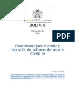 Protocolo Manejo y Disposicion de Cadaveres Sars-cov-2 v280320