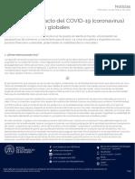 Análisis del impacto del COVID-19 (coronavirus) en los mercados globales