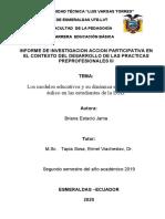 Informe de IAP Prácticas Preprofesionales 3ro A