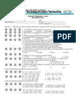 2ND PT- MATH 5 with TOS