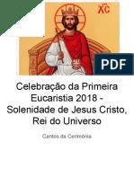 Ano B - Cristo Rei - Primeira Eucaristia