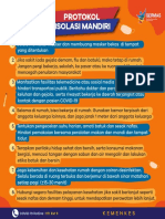 Infografis Protokol Isolasi Mandiri Covid-19 Kemenkes