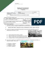 Prueba de diagnostico de Historia( 7º Básico 2019)