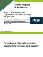 Harmonisasi metode E.coli