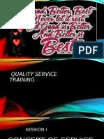 Quality Service Staff Training