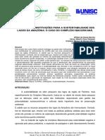 2017_2 VIII SIDR_As Ações das Instituicoes para a Sustentabilidade dos Lagos da Amazônia