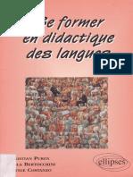Christian PUREN, Se former en Didactique des langues