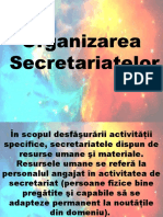 Organizarea Secretariatelor