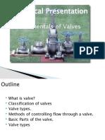 valves presentation by ranjit sabari