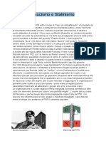 Il Fascismo, Lo Stalinismo e Il Nazismo