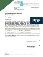 2. Usulan Surat Penggantian Personil