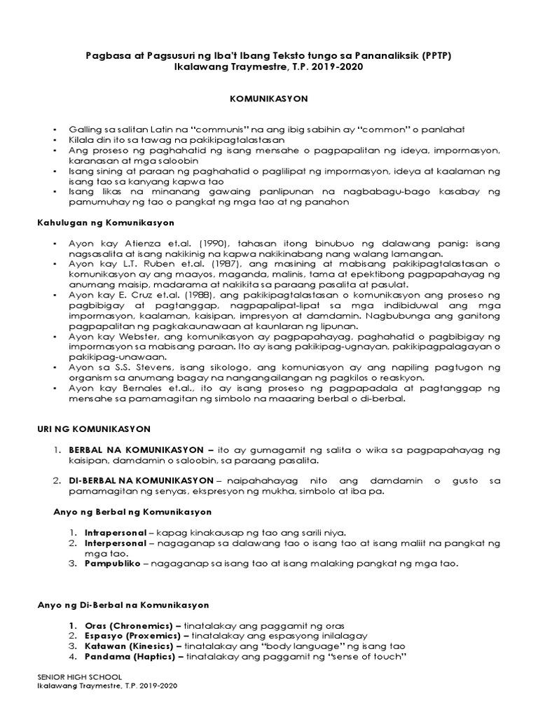 Pptp Handout Pdf Ang mga kwentong ito ay nagpapakita ng mga kabulabulalas na pangyayari at nagpapakita ng kabayanihan ng. pptp handout pdf
