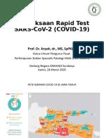 Presentasi Prof Aryati ttg. Rapid Test di Grahadi tgl. 26 Maret 2020