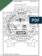 MT&QC lab manual