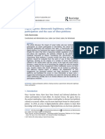 Digital agoras- democratic legitimacy, online participation and the case of Uber-petitions