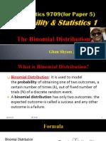 MSc PSycology binomial distributionasa level