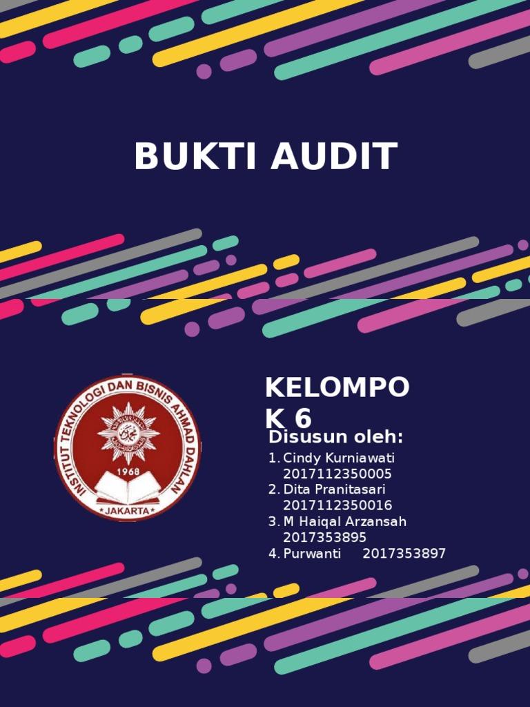 Tugas Auditing I Bukti Audit
