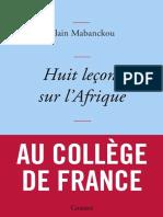 Alain Mabanckou - Huit lecons sur l Afrique