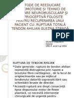 Ruptură de tendon ahilian ppt. proiect info