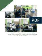 Kegiatan Persentasi 16 nov Laporan Akhir di Kantor Dinas Pemuda dan Olahraga Aceh