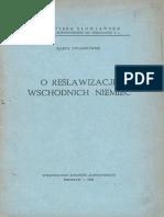 Karol Stojanowski - O reslawizację wschodnich Niemiec (1946)