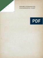 Karol Stojanowski - Polsko-niemieckie zagadnienia rasy (1934)