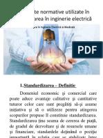 Documente normative utilizate in ingineria electrica