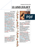 timeline romeo and juliet by holly