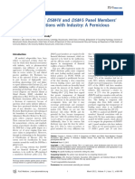 A comparison of DSM-IV and DSM-5 panel member's financial associations with industry